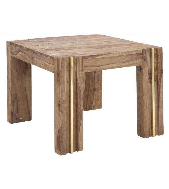 Tavolo da caffe' quadrato elegant sheesham cm 58x58x45