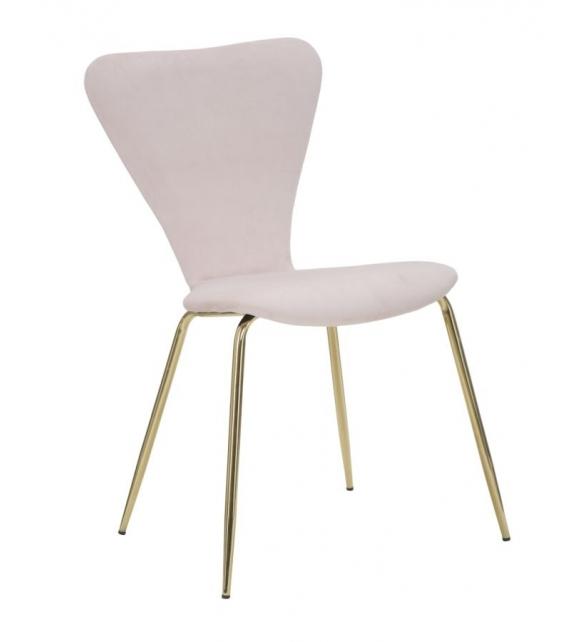 Sedia glam simple rosa cm 45x50x80 set 2 pz