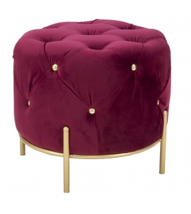 Puff diamond glam bordeaux cm Ø 45x40