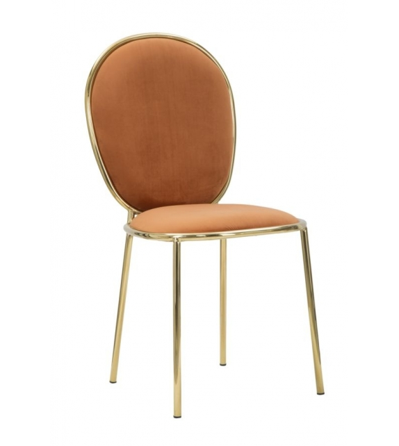 Sedia glam emily arancio cm 44x50x90 set 2pz (altezza seduta cm 45)