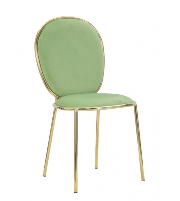 Sedia glam emily verde cm 44x50x90 set 2pz (altezza seduta cm 45)