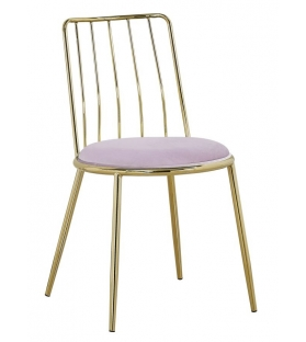 Sedia glam lodovic rosa cm 45x50x80 set 2 pz (altezza seduta cm 45)