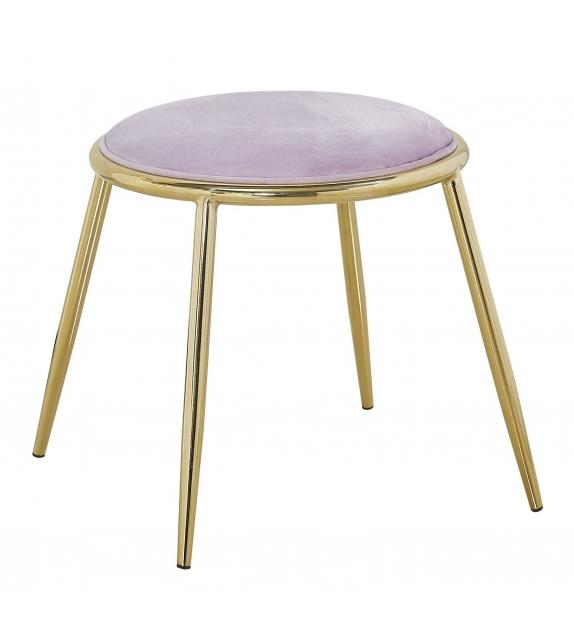 Sgabello glam emily rosa cm Ø 45x45 (altezza gambe cm 41)