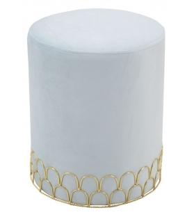 Sgabello ring celeste cm Ø 35x42