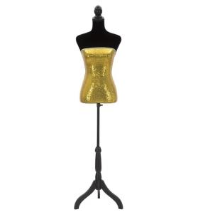 Manichino paillettes oro cm 37x23x165