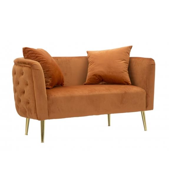 Divanetto bucarest arancio cm 127x74x71