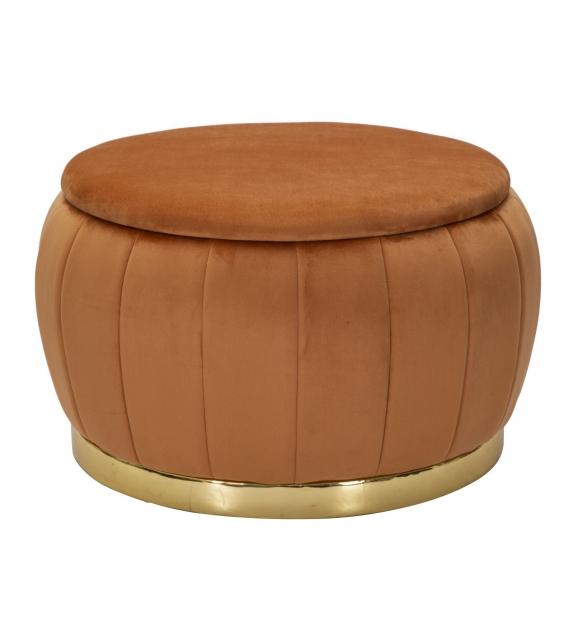 Puff/contenitore paris ruggine/gold cm Ø72x43