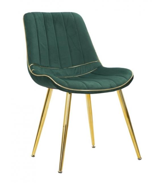 Sedia paris verde/gold set 2 pz cm 51x59x79