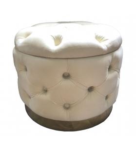 Puff contenitore rich crema cm Ø 55x42