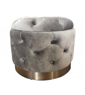 Puff contenitore rich grigio cm Ø 55x42