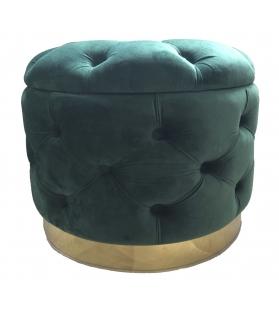 Puff contenitore rich verde cm Ø 55x42