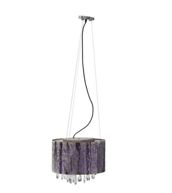 Paralume da soffitto fenice c/cristalli Ø cm 40