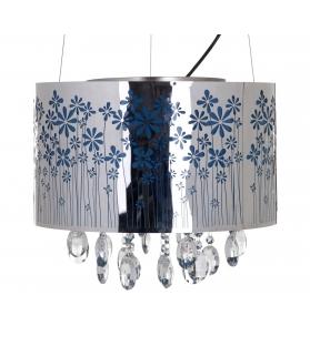 Paralume da soffitto fiori c/cristalli Ø cm 40