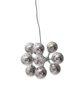 Paralume universal da soffitto 9 luci argento Ø cm 50