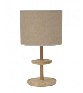 Lampada da tavolo c/svuotatasche -c- in legno Ø cm 30x41