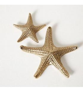 Set 2 Stelle Marine Glam Oro diametro 10 e 16 cm