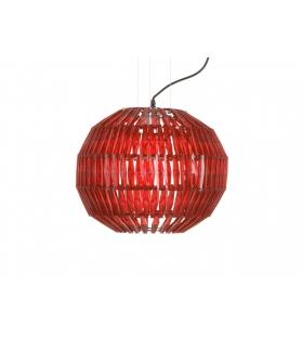 Paralume da soffitto astro rosso cm Ø 40