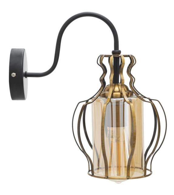 Lampada da muro iron class -b- cm 19x29x31