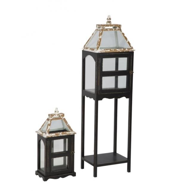 Lanterna hut -b- cm 34x26x121 - 26x18x52 set 2 pz