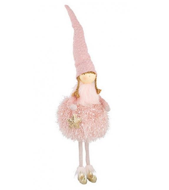 Bambola ballerina principessa rosa da appendere h43 cm