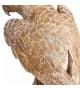Statua Pappagallo Oro con piedistallo h37 cm