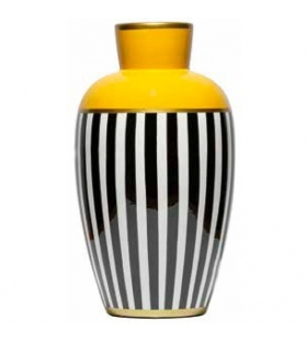 Vaso anfora giallo porcellana cm.19x33