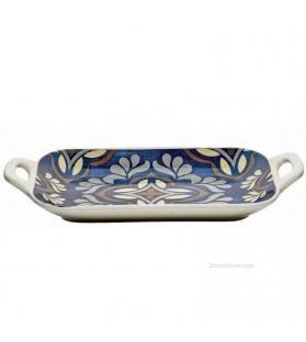 Vassoio con manici Maiolica ceramica