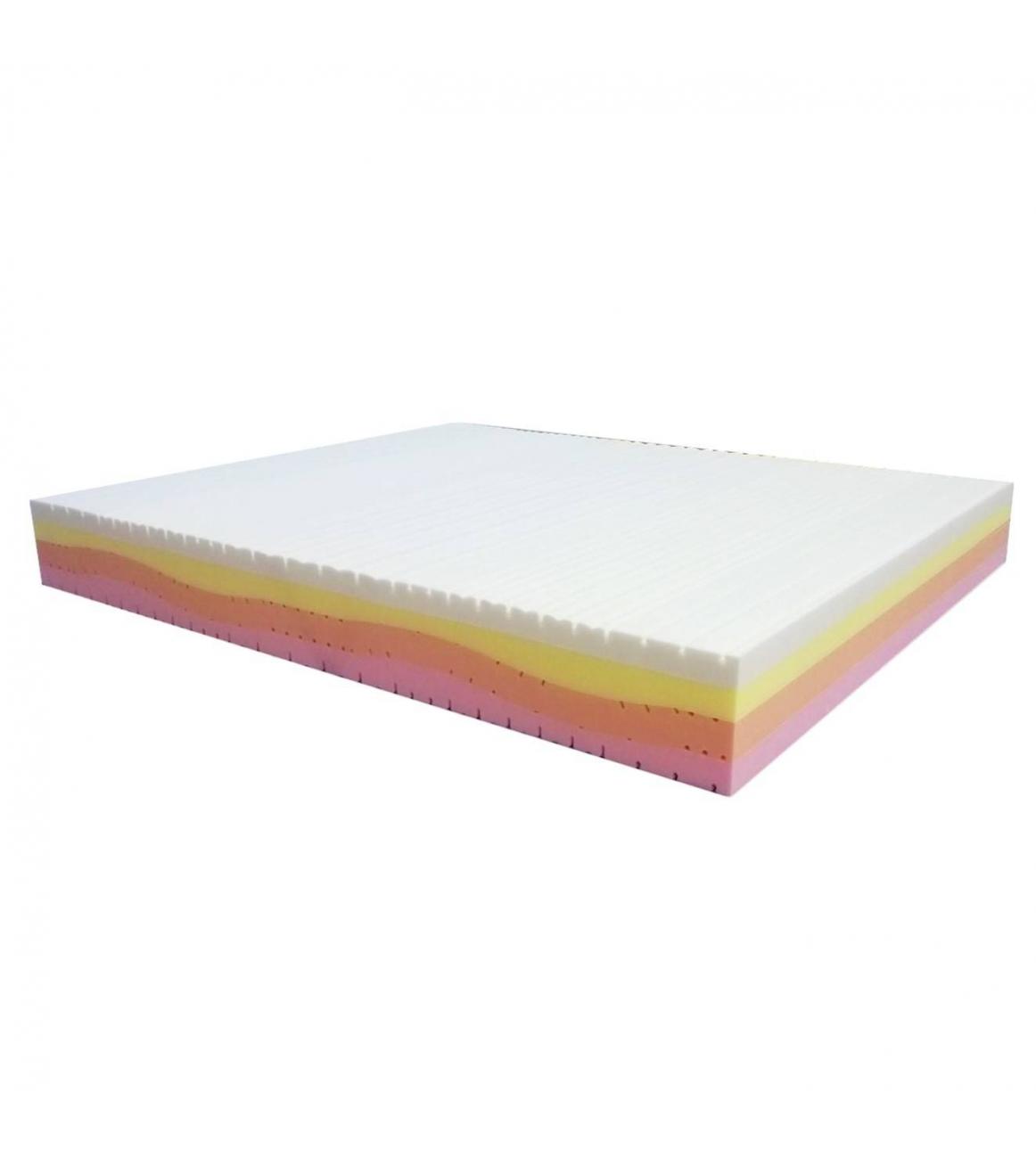 Materasso 4 Strati Gaia Memory Foam Singolo 80 x 190 cm con cover a...