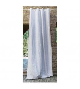 Tenda Ornamental jacquard in cotone con occhielli 150x300