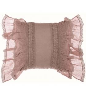 Cuscino con gale rosa 45x45