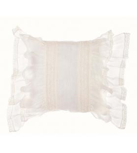 Cuscino con gale bianco 45x45
