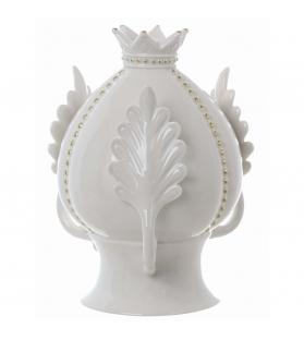 Decoro pigna con corona porcellana 17 X 17 X 22