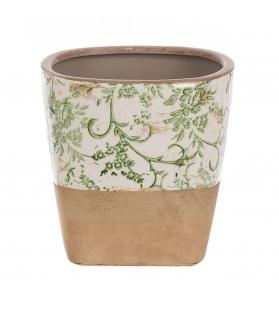 Vaso basso decorativo ceramica 16 X 16 X 16