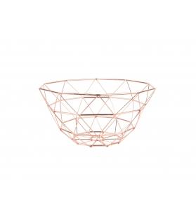 Cesto Porta Frutta Diamante Rame D. 30cm H. 15cm