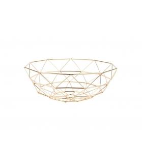 Cesto Porta Frutta Diamante Oro D. 35cm H. 13cm