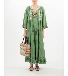 Caftano cotone verde