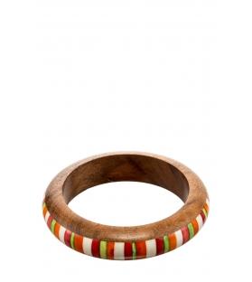 Bracciale legno multicolor