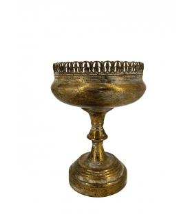Alzata coppa oro antichizzato