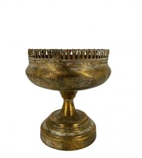 Alzata coppa oro antichizzato medo