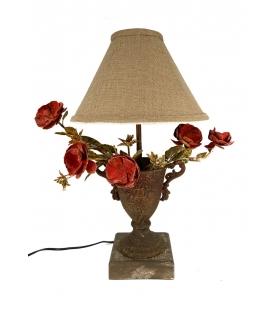 Lampada da tavolo vaso con fiori metallo 31 X 31 X h60