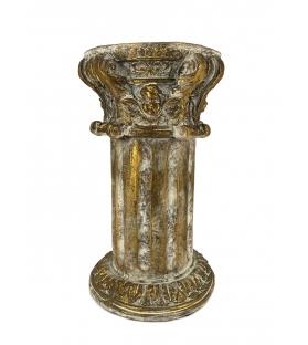 Colonna capitello resina oro antichizzato