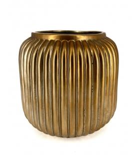 Vaso porta piante ceramica oro basso