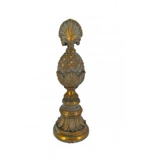 Pigna decorativa alta resina oro antichizzato