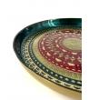 Vassoio Impero vetro verde diametro 35 cm