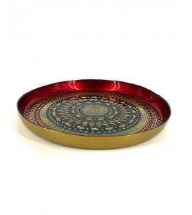 Vassoio Impero vetro rosso diametro 35 cm