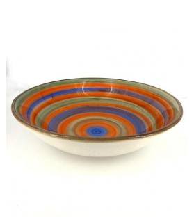 Coppa ceramica cerchi multicolor
