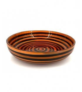 Coppa ceramica cerchi nero arancione