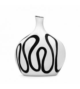 Vaso ceramica Mirò bianco cm 19,5x13x23