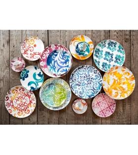 Servizio piatti tavola Marrakesch 18 pezzi porcellana