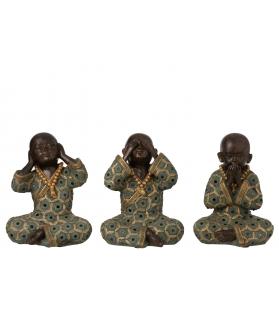 Monaci buddhisti non vedo non sento non parlo h15 cm